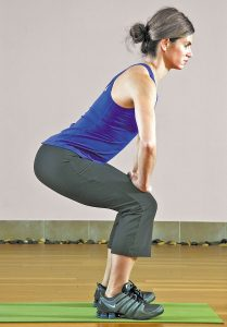 Exercise at home - squat